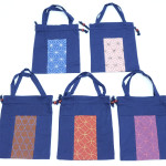 藍染2本手巾着(刺子柄) 縦29.5 x 横23.5(756円)(税込)