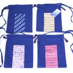 藍染2本手巾着(絞り柄) 縦29.5 x 横23.5(756円)(税込)