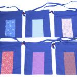 藍染ショルダー付巾着(刺子り柄) 縦29.5 x 横23.5(756円)(税込)