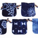 藍染絞り巾着(小) 縦14.5 x 横14.0(432円)(税込)