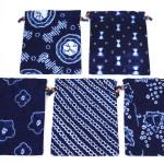 藍染絞り巾着(大) 縦29.5 x 横23.5(756円)(税込)